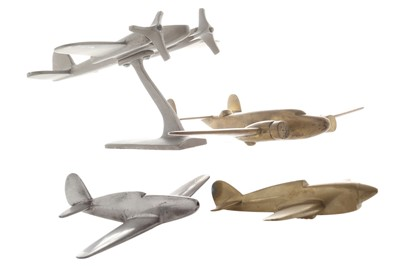 Lot 94-Four Aeronautical Car Mascots