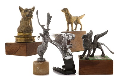 Lot 95-Five Animal Car Mascots