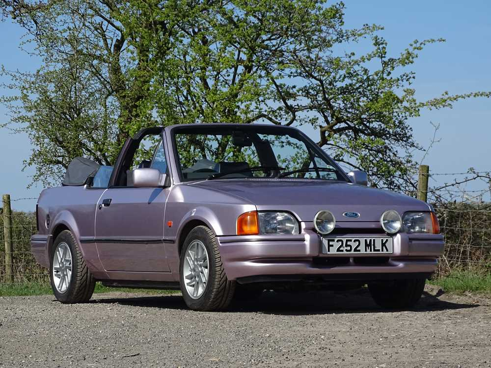 Lot 20 1989 Ford Escort Xr3i Cabriolet