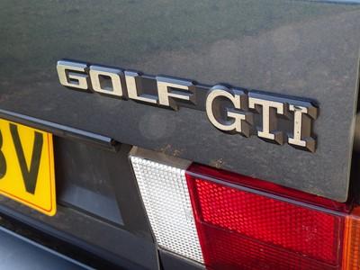 Lot 13 - 1988 Volkswagen Golf GTi Cabriolet