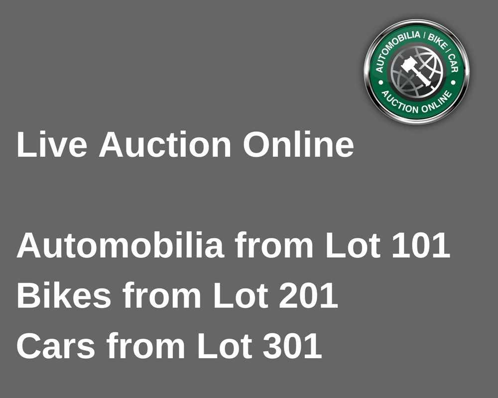 Lot 100 - The Automobilia Sale