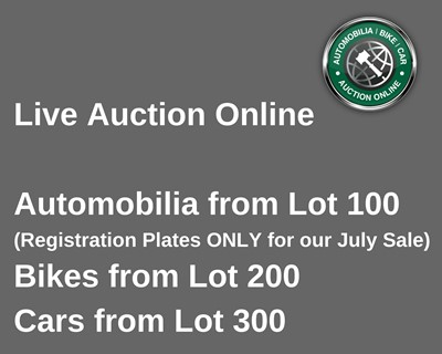 Lot 100-Our Automobilia Sale - Registration Numbers Only