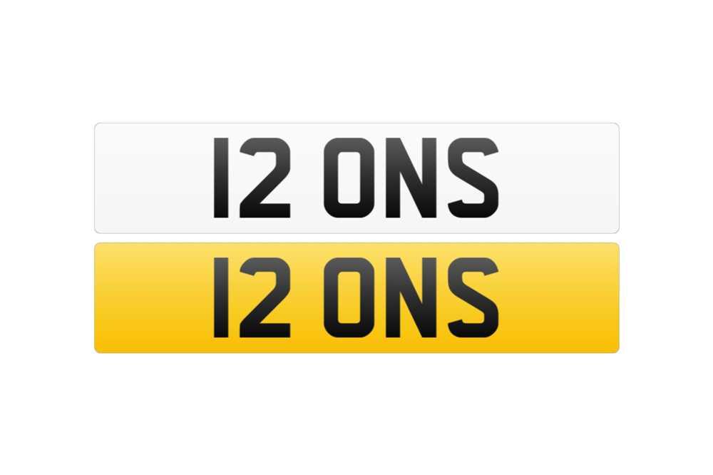Lot 118 - Registration Number - 12 ONS