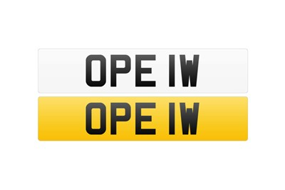 Lot 105-Registration Number - OPE 1W