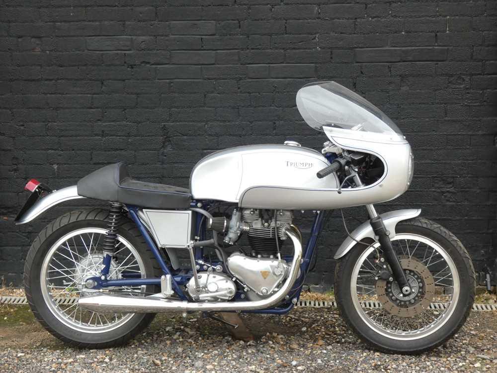 Lot 254 - 1957 Triumph T110 Tiger Café Racer