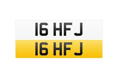 Lot 108 - Registration Number - 16 HFJ