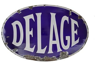 Lot 32-Delage – A large pre-war Dealer-Agent's Enamel Sign, c1930s
