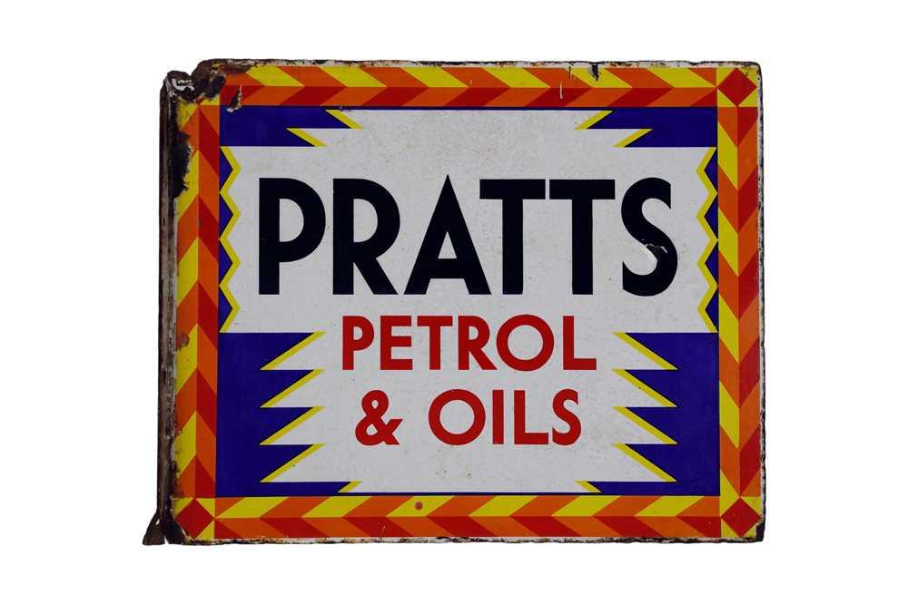 Lot 1-Pratts Petrol and Oils Enamel Sign