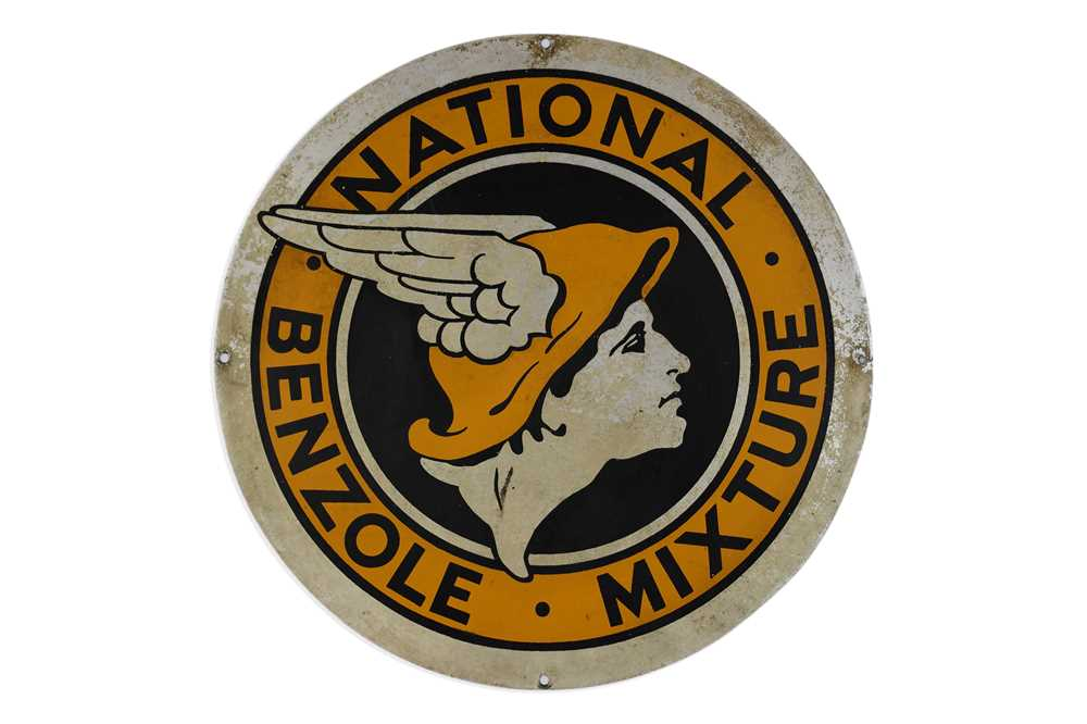 Lot 4-National Benzole Mixture Advertising Sign