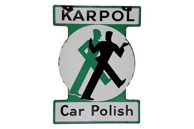 Lot 7-Karpol Car Polish Enamel Sign