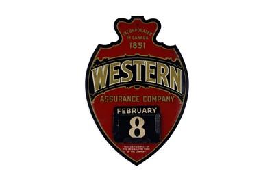 Lot 8-Western Assurance Company Advertising Calendar