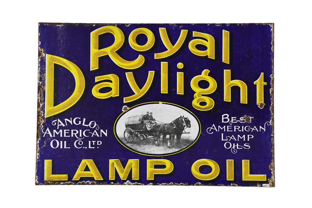 Lot 10-Royal Daylight Lamp Oil Enamel Sign