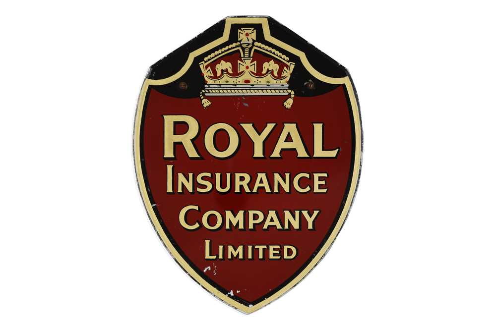 Lot 12-Royal Insurance Company Glass Advertising Sign