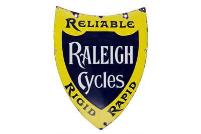 Lot 13-Raleigh Cycles Shield Enamel Sign
