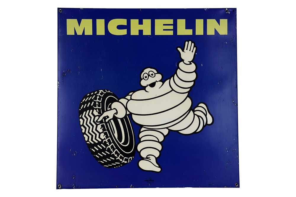 Lot 14-Large Michelin Tyres Aluminium Advertising Sign