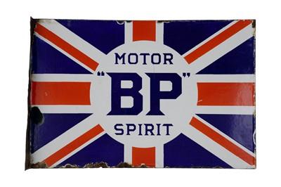 Lot 15-BP Motor Spirit Union Jack Enamel Sign
