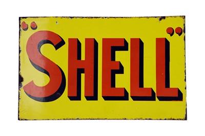 Lot 16-Shell Enamel Sign