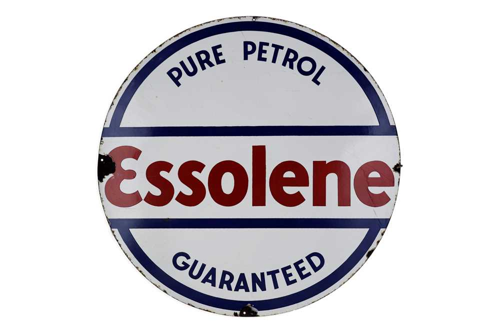 Lot 17-Esso Essolene Enamel Sign