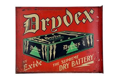 Lot 18-Exide Drydex Batteries Tin Advertising sign