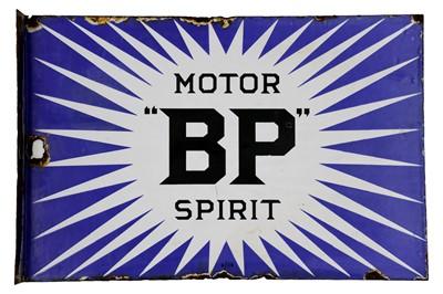 Lot 20-BP Motor Spirit 'Irish Flash' Enamel Sign