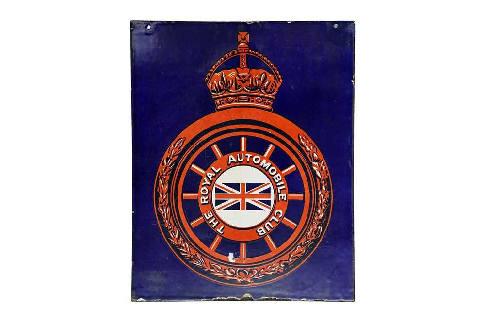 Lot 21-An Early Royal Automobile Club / RAC Enamel Sign