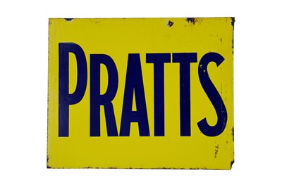 Lot 22-Pratts Enamel Sign