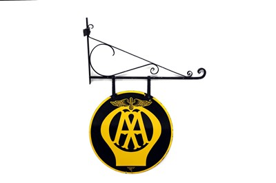 Lot 25-Automobile Association / AA Enamel Sign