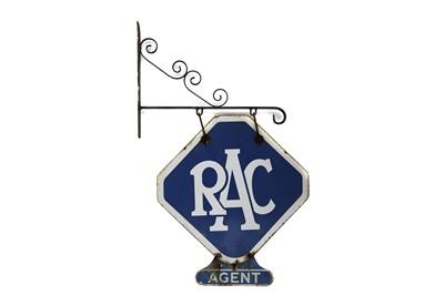 Lot 26-Royal Automobile Club / RAC 'Agent' Enamel Sign