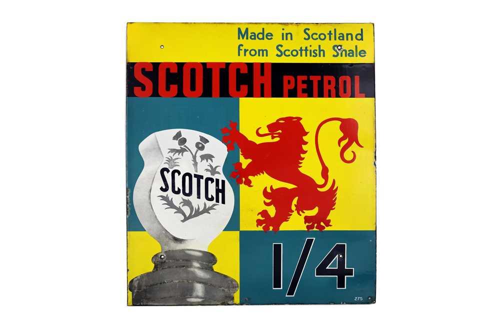 Lot 27-Rare Scotch Petrol Enamel Sign