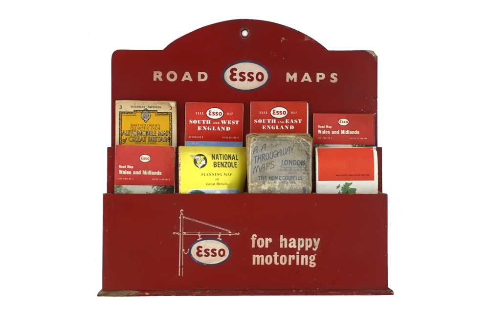 Lot 43-Esso Road Maps Display / Holder