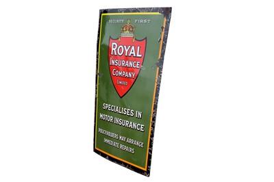 Lot 45-A Very Large Royal Insurance Company Enamel Sign