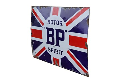 Lot 46-Large BP Union Jack Enamel Sign