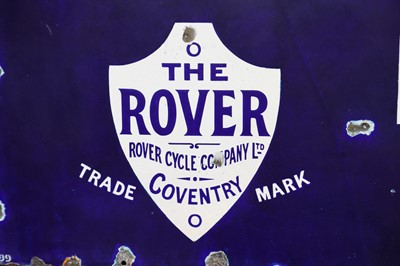 Lot 47-A Very Early and Rare Rover Cycles Enamel Sign