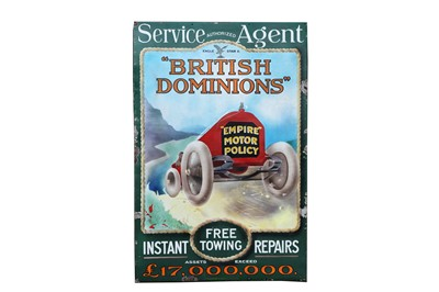 Lot 48-A Rare British Dominions Insurance Enamel Sign