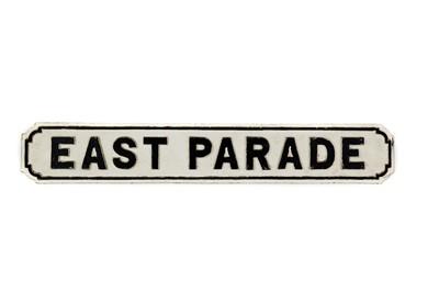 Lot 52-Original 'East Parade' Cast Iron Road Sign