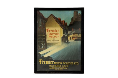 Lot 54-Premier Motor Policy Advertising Showcard