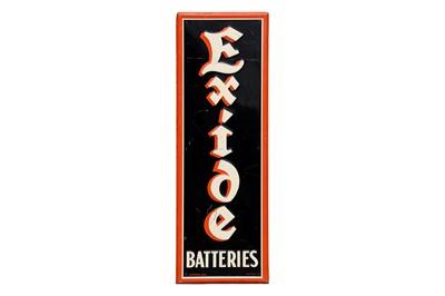 Lot 56-Exide Batteries Advertising Sign