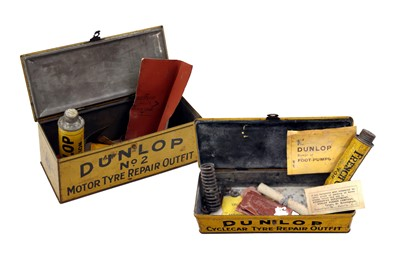 Lot 58-Early Dunlop Tyre Accessory Tins