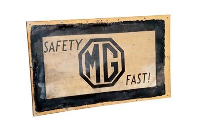 Lot 59-Pre-War MG Showroom Mat