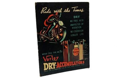 Lot 60-A Pre-War Varley Dry Accumulators Advertising Showcard