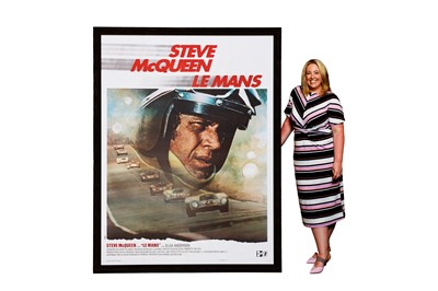 Lot 69-A Rare and Very Large Steve McQueen 'Le Mans' Movie Advertising Poster
