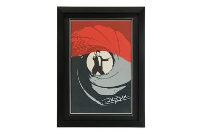 Lot 76-Timothy Dalton as James Bond Artwork Poster (Signed)