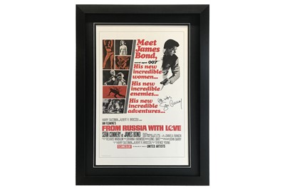 Lot 77-James Bond / From Russia With Love Movie Poster Signed by Sean Connery