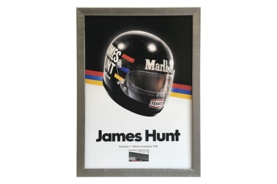 Lot 79-A Signed Tribute to James Hunt (1947 – 1993)