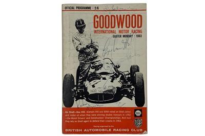 Lot 82-1963 Goodwood International Motor Racing Programme (Signed)