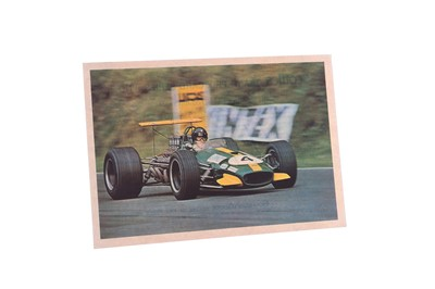 Lot 86-Jochen Rindt Signed Period Publicity Postcard