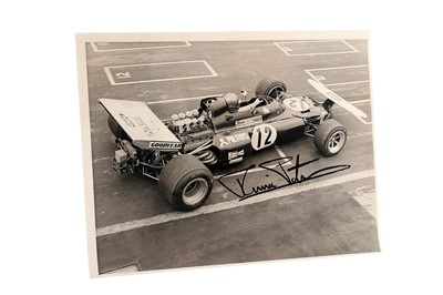 Lot 87-Ronnie Peterson Signed Period Photograph