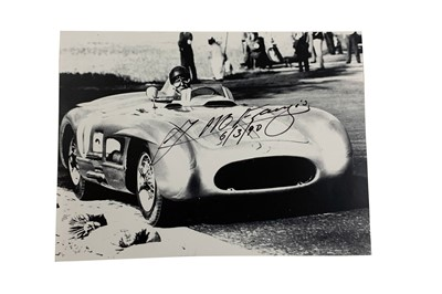 Lot 88-J. M. Fangio Signed Photographic Print