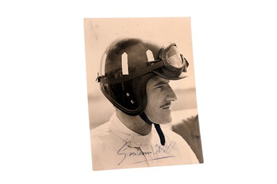 Lot 92-Graham Hill Signed Period Publicity Photograph