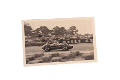 Lot 93-Peter Collins Signed and Dedicated Period Photograph